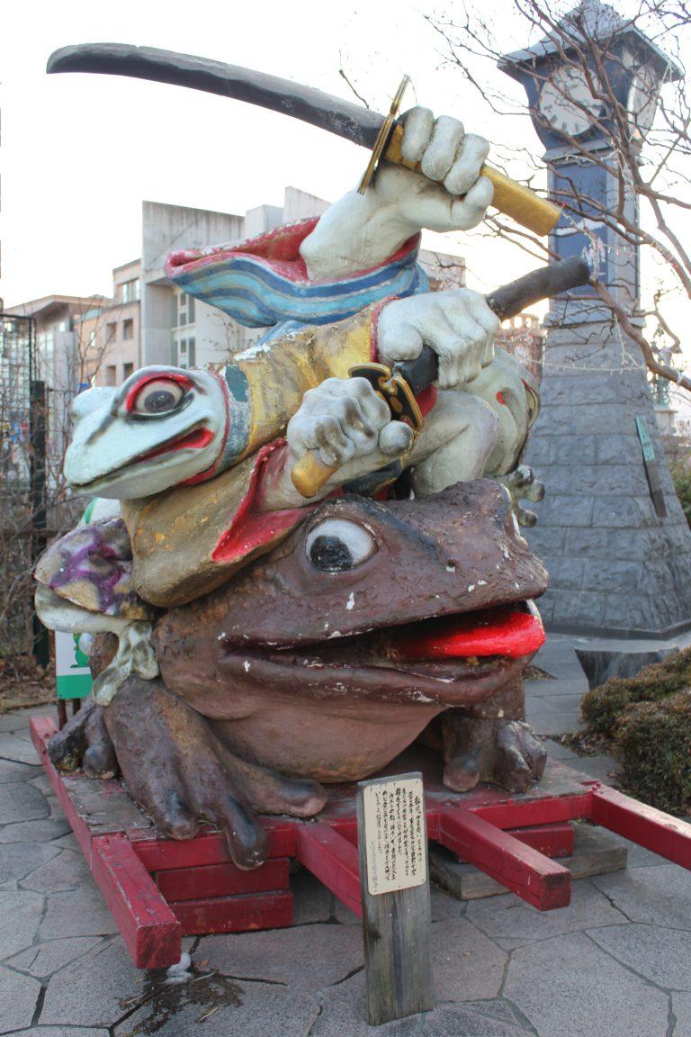 なわて通り商店街のカエル像