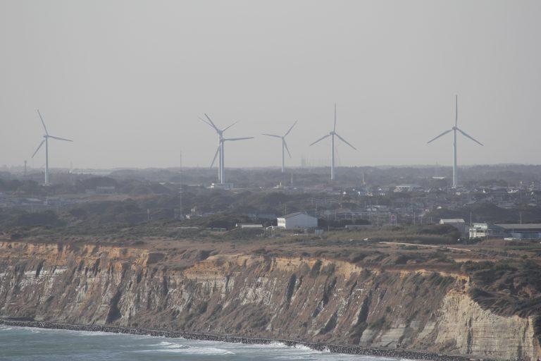地球の丸く見える丘展望館風力発電