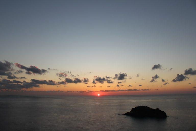 伊豆半島の日の入り