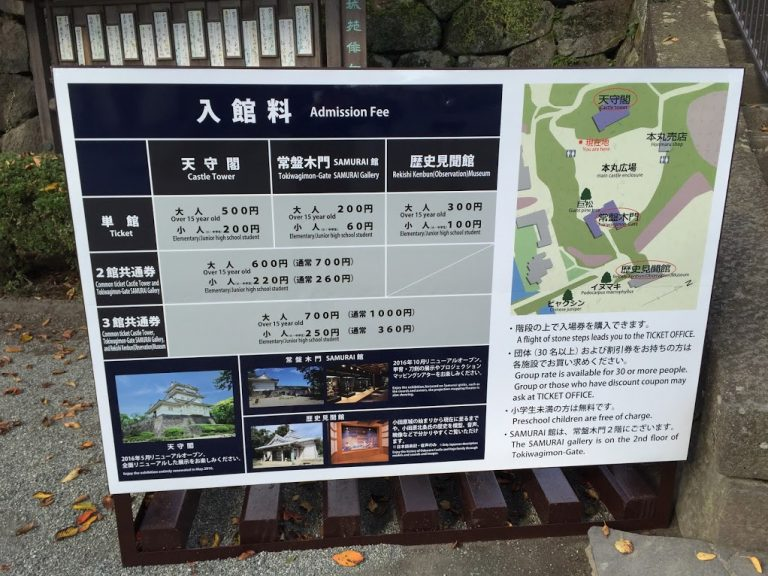小田原城入館料