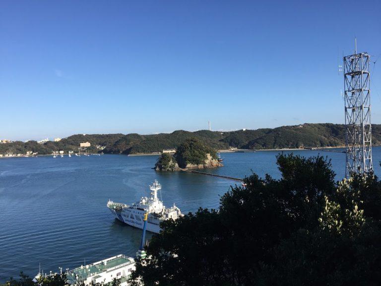下田城跡からの景色