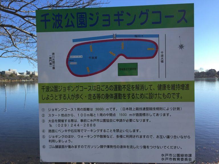 千波公園ジョギングコース