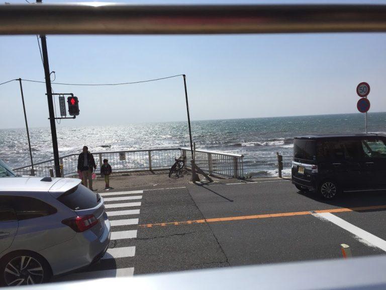 江ノ電からのオーシャンビュー